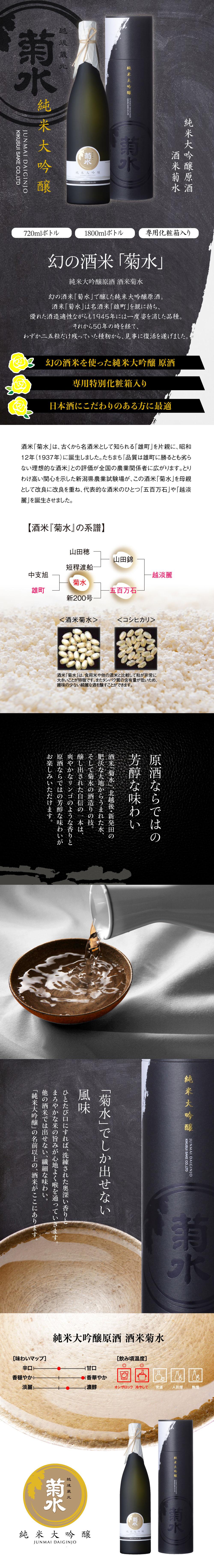 純米大吟醸 【原酒】 酒米菊水